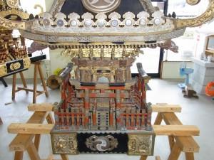 何年も使用した神輿